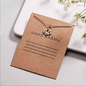 ✨RESTOCKED! Good Karma Necklace With Card Pendant